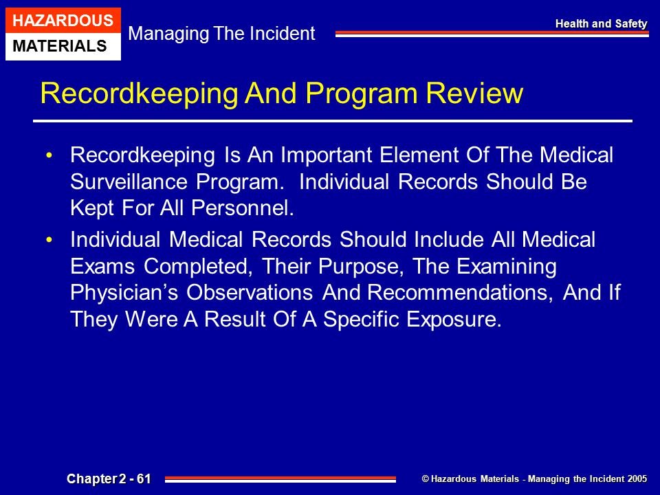 Recordkeeping And Program Review
