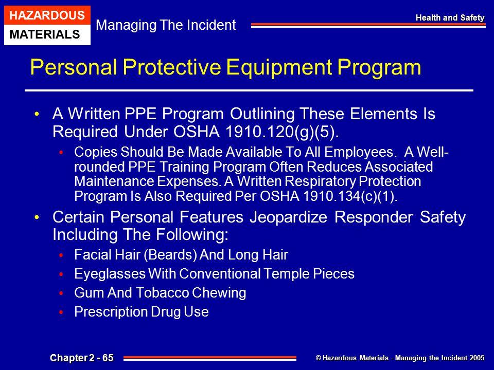 Personal Protective Equipment Program