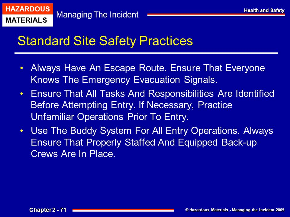 Standard Site Safety Practices