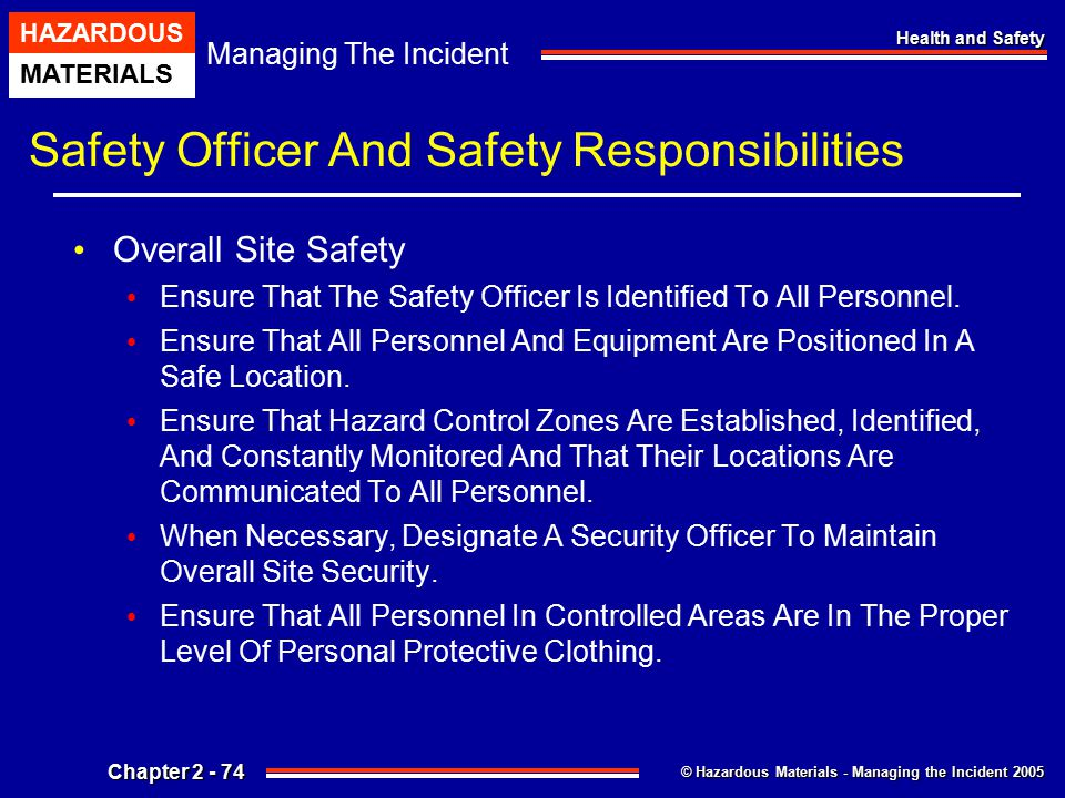 Safety Officer And Safety Responsibilities