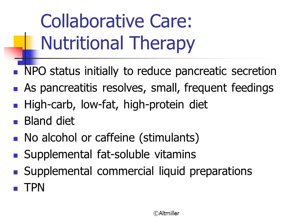 Collaborative Care: Nutritional Therapy