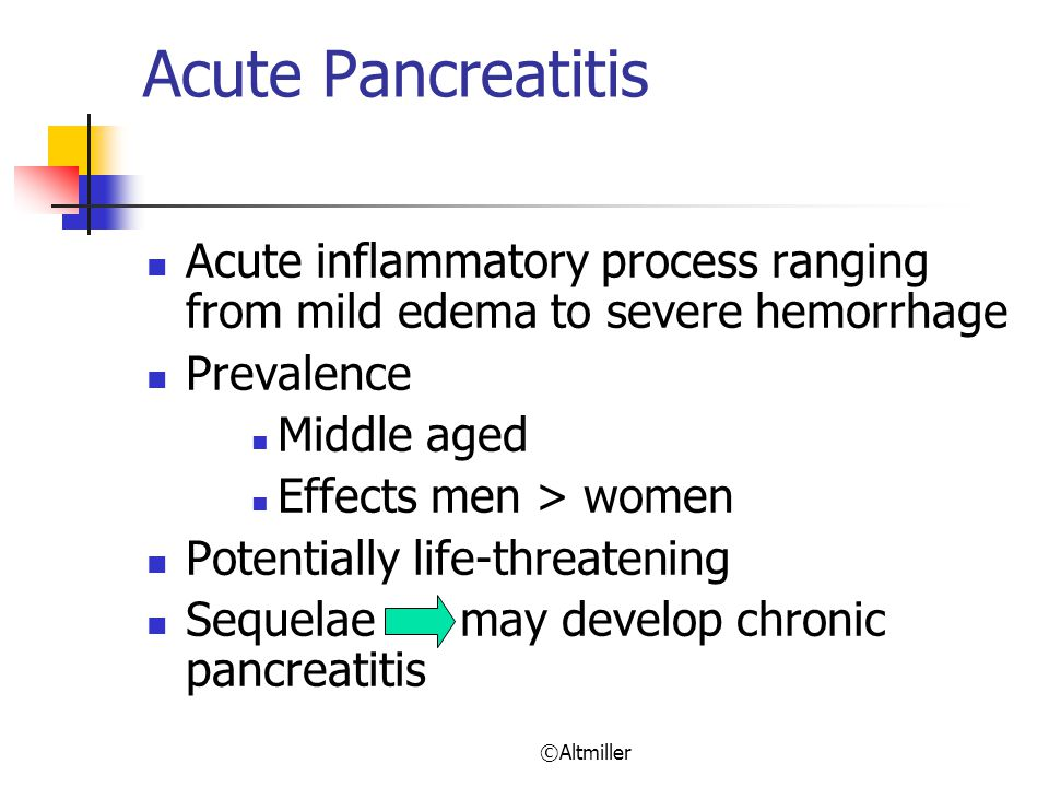 Acute Pancreatitis Acute inflammatory process ranging from mild edema to severe hemorrhage. Prevalence.