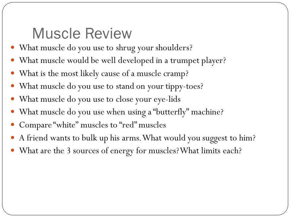 Muscle Review What muscle do you use to shrug your shoulders