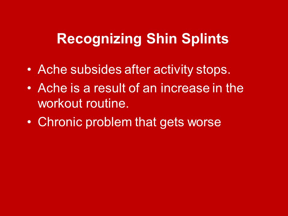 Recognizing Shin Splints