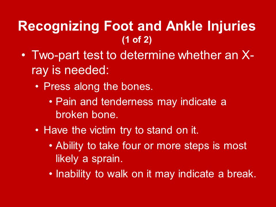 Recognizing Foot and Ankle Injuries (1 of 2)