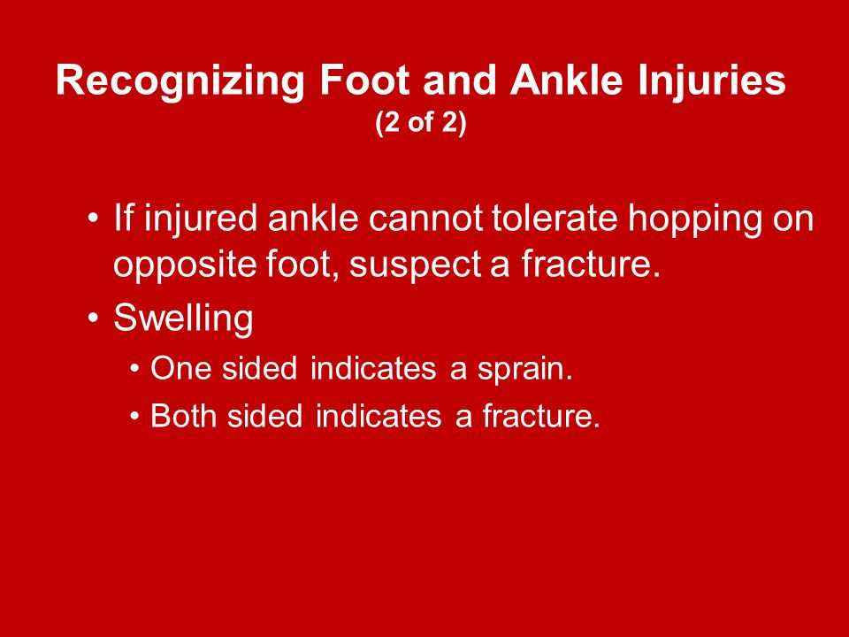 Recognizing Foot and Ankle Injuries (2 of 2)