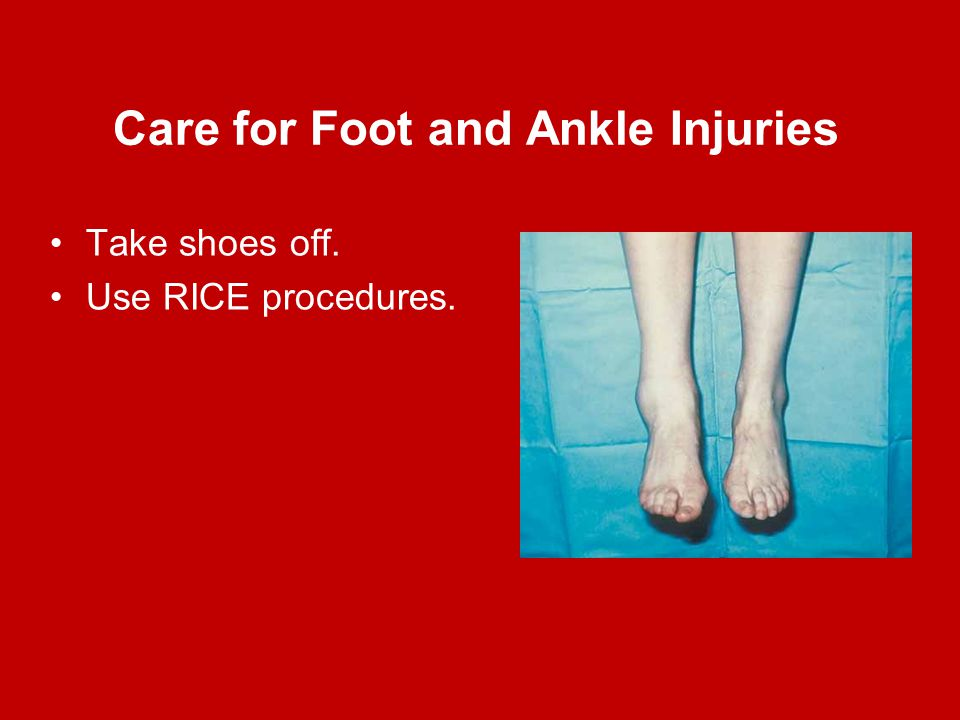 Care for Foot and Ankle Injuries