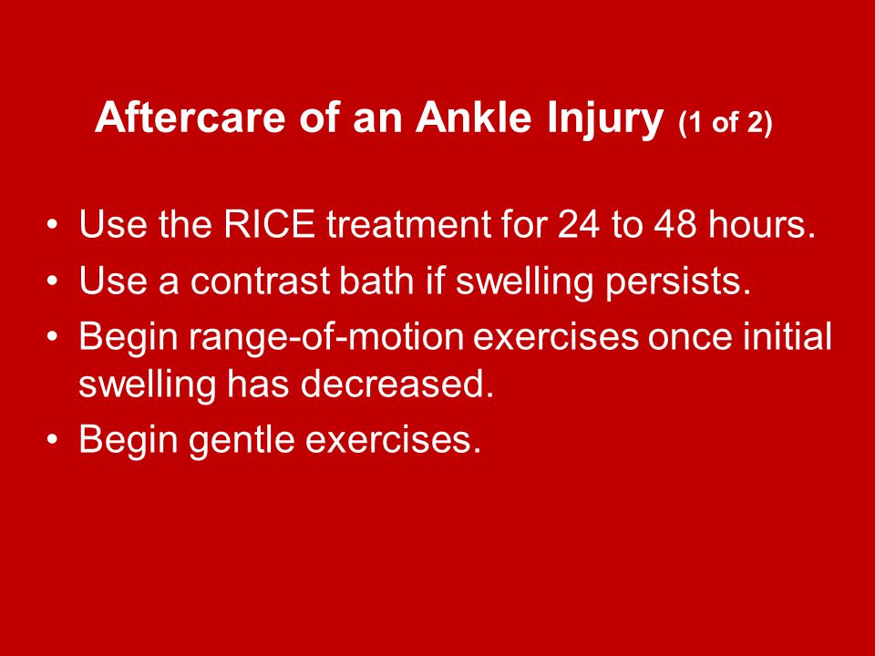 Aftercare of an Ankle Injury (1 of 2)