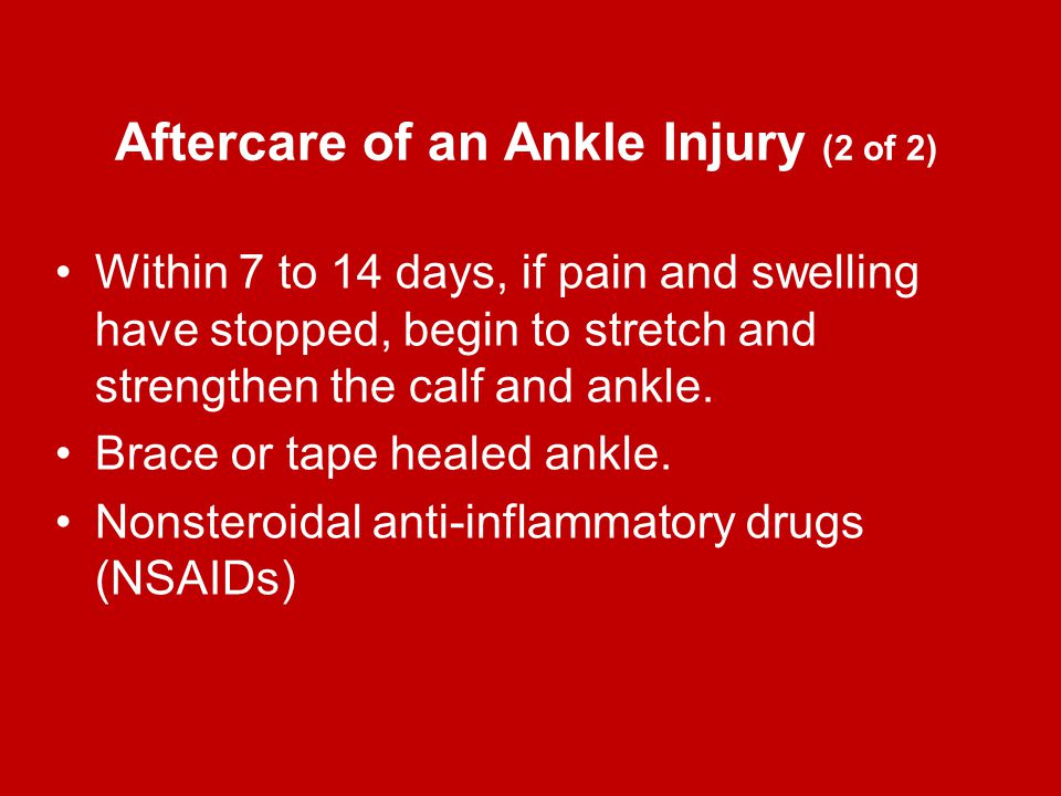 Aftercare of an Ankle Injury (2 of 2)