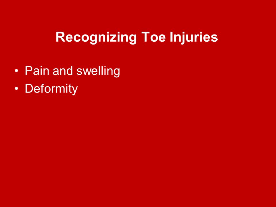 Recognizing Toe Injuries