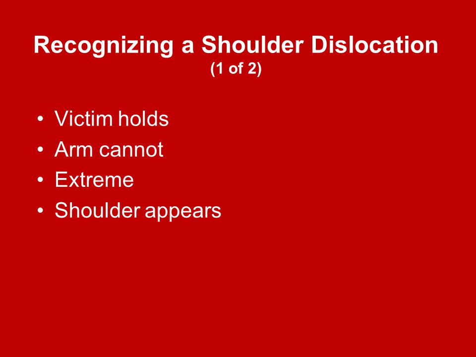 Recognizing a Shoulder Dislocation (1 of 2)