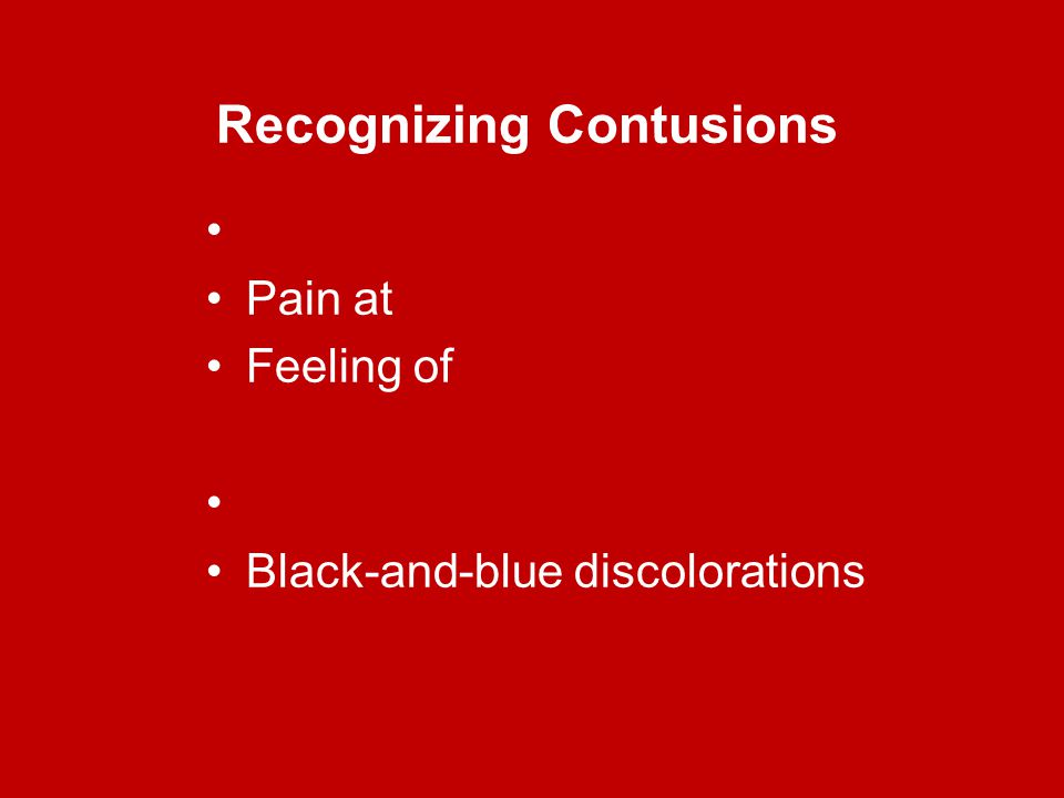 Recognizing Contusions