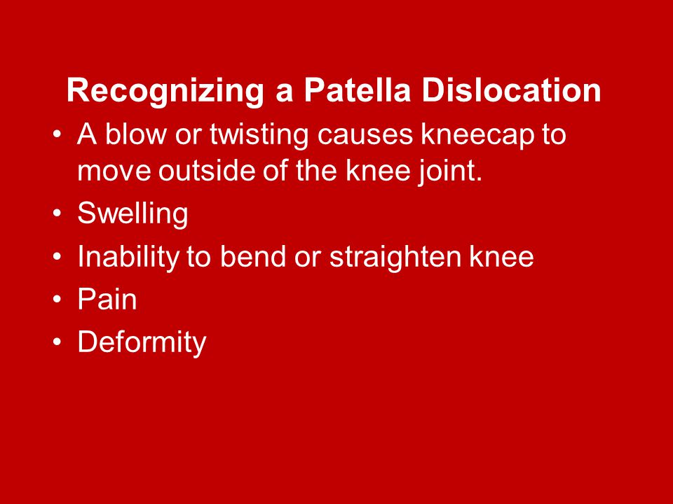 Recognizing a Patella Dislocation