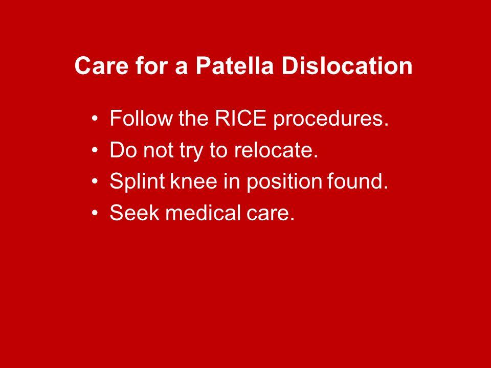 Care for a Patella Dislocation
