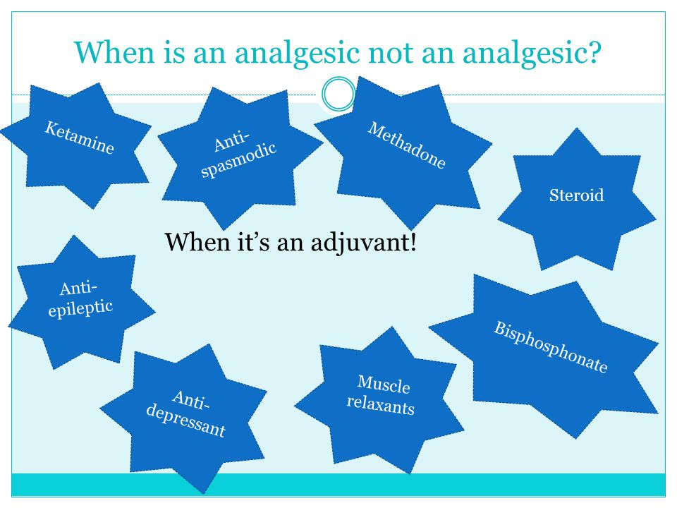 When is an analgesic not an analgesic
