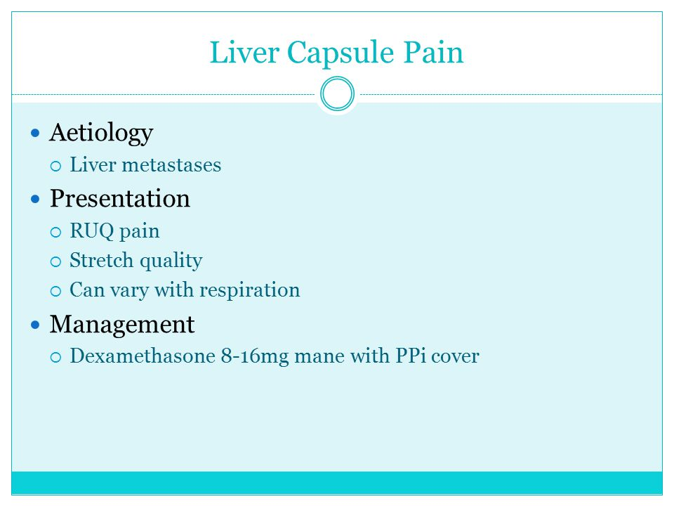 Liver Capsule Pain Aetiology Presentation Management Liver metastases