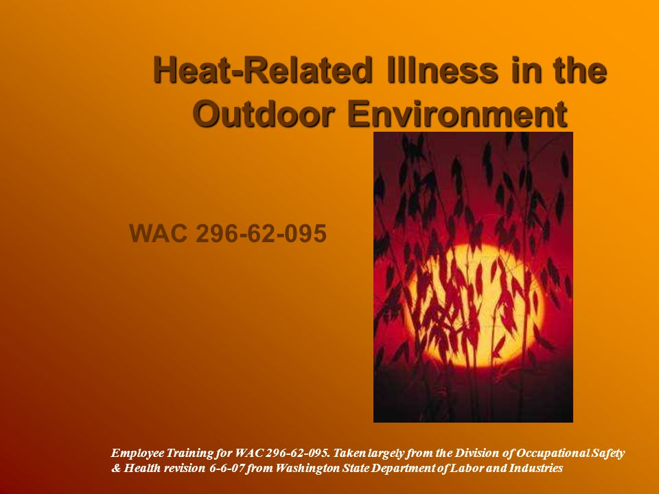 Heat-Related Illness in the Outdoor Environment