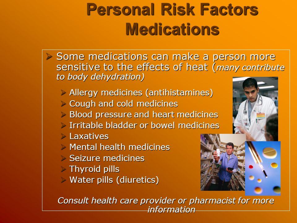 Personal Risk Factors Medications