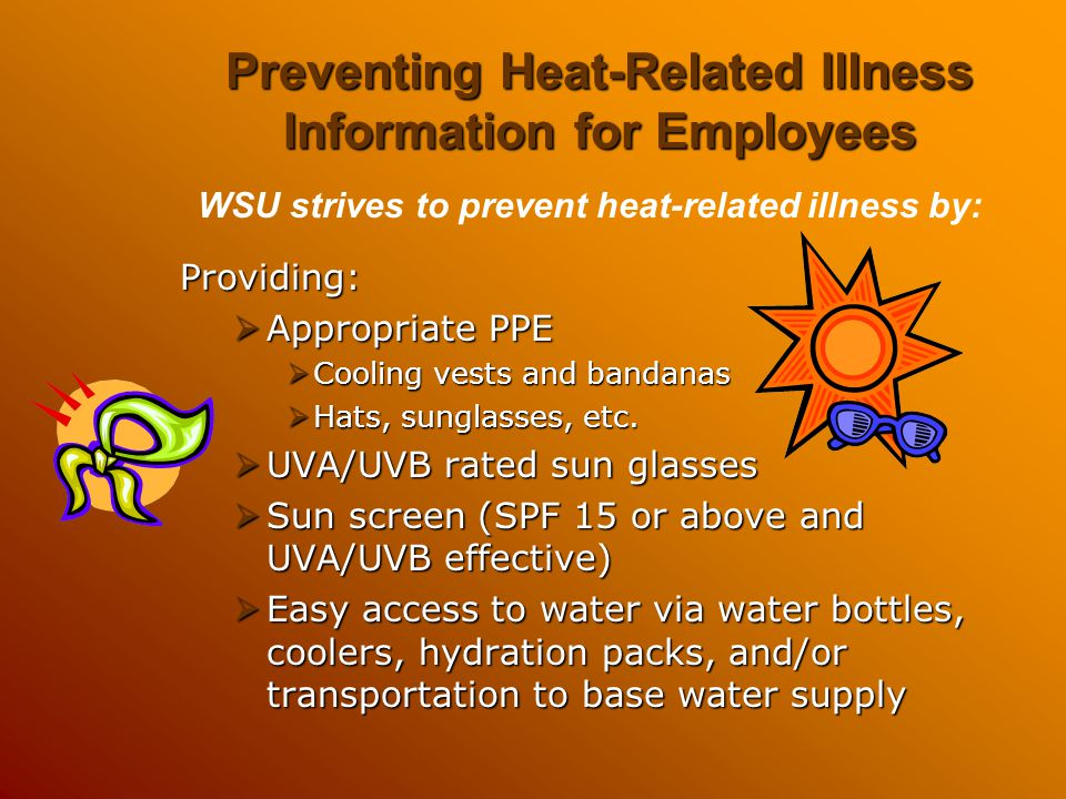 Preventing Heat-Related Illness Information for Employees