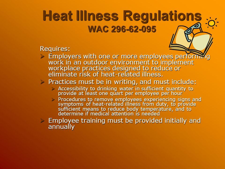 Heat Illness Regulations WAC 296-62-095