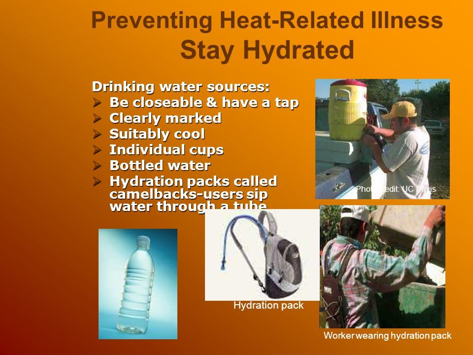 Preventing Heat-Related Illness Stay Hydrated