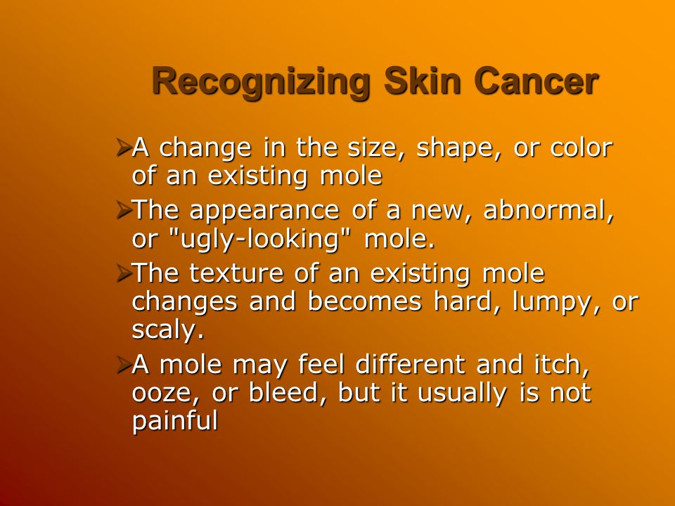 Recognizing Skin Cancer