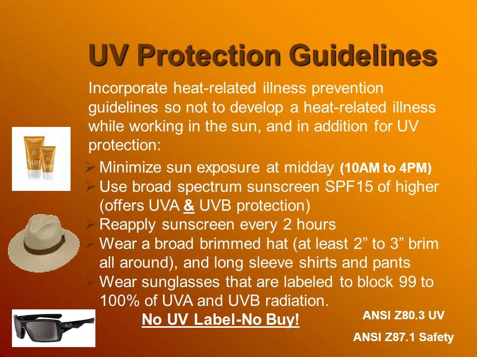 UV Protection Guidelines