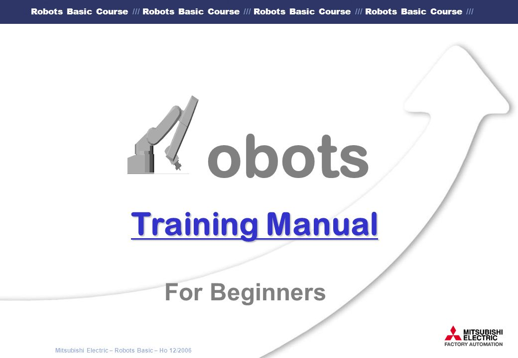 obots Training Manual For Beginners