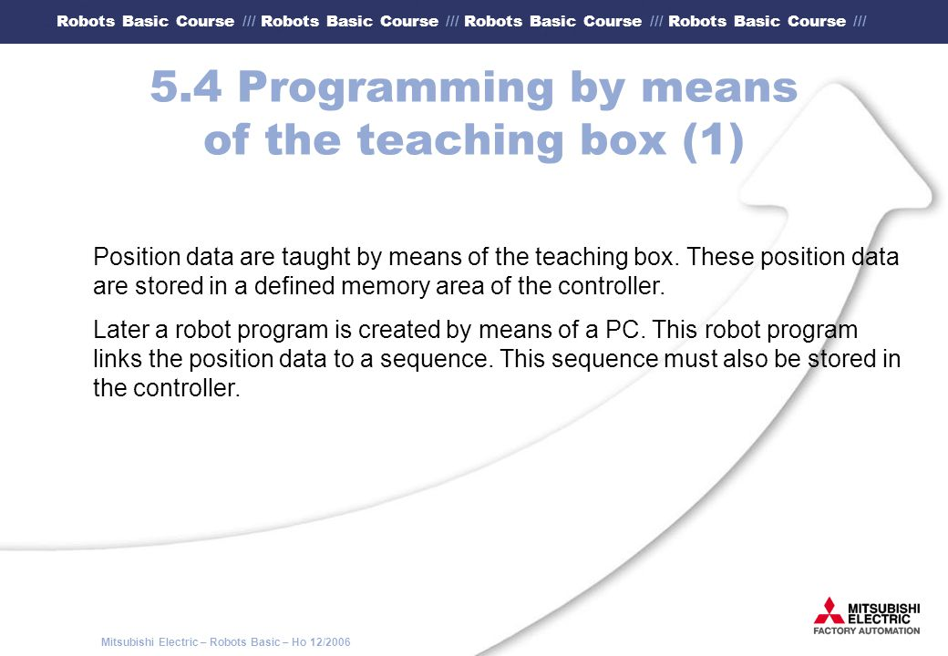 5.4 Programming by means of the teaching box (1)