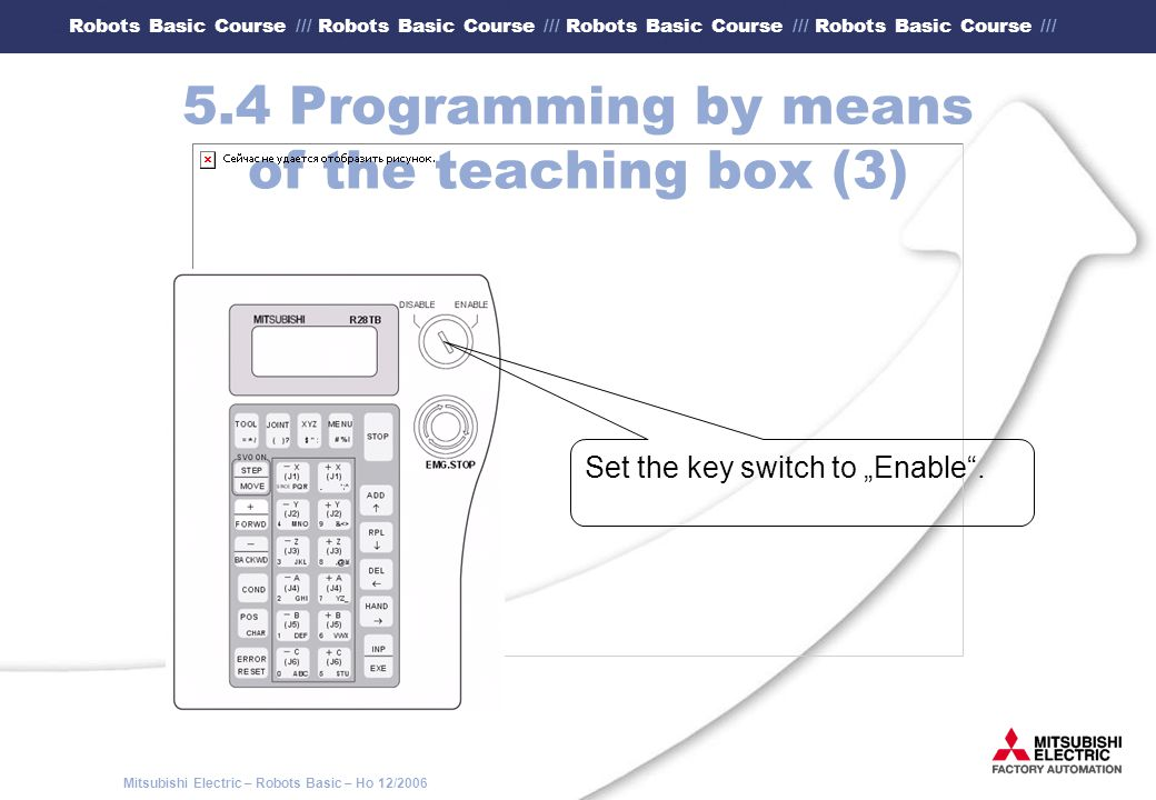 5.4 Programming by means of the teaching box (3)