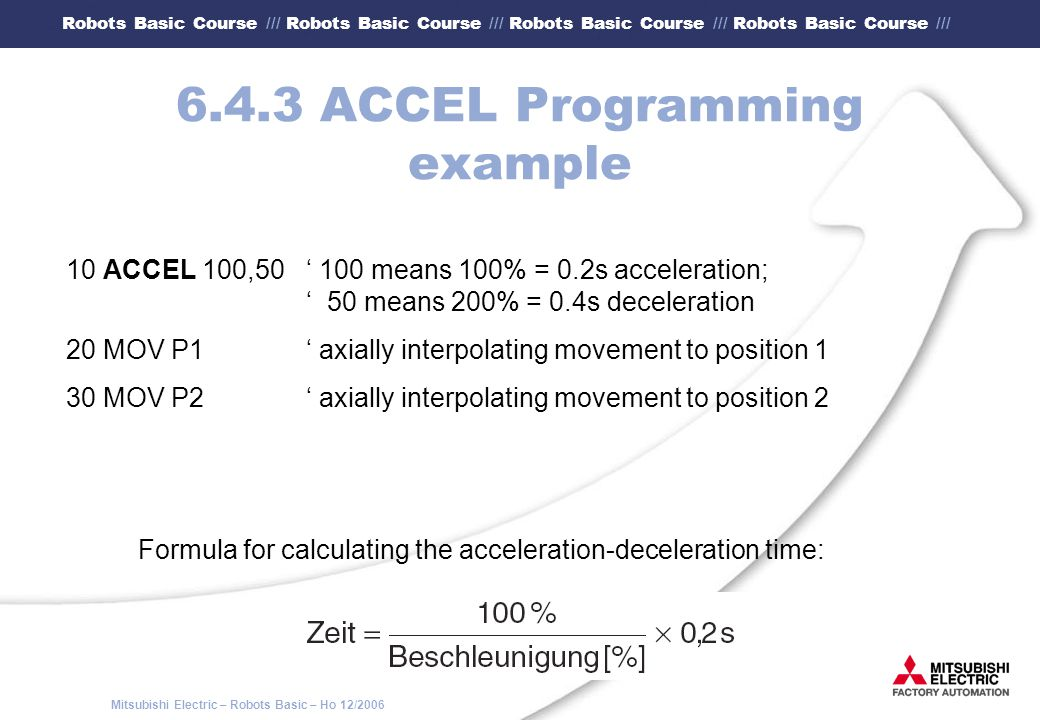 6.4.3 ACCEL Programming example