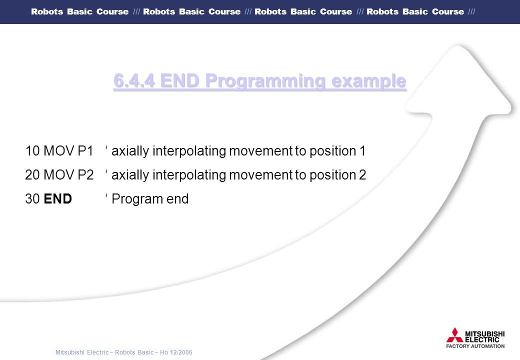 6.4.4 END Programming example
