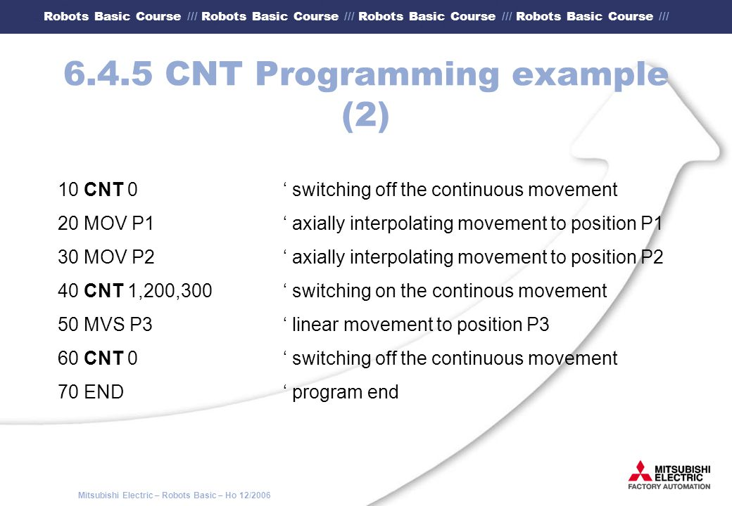 6.4.5 CNT Programming example (2)