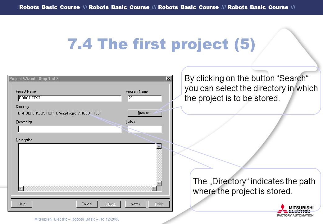 7.4 The first project (5) By clicking on the button Search