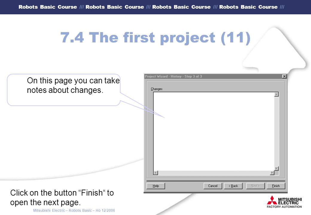 7.4 The first project (11) On this page you can take