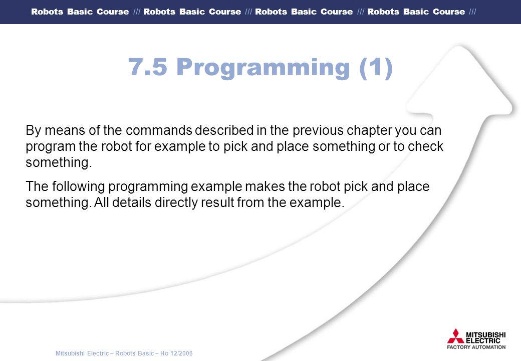 7.5 Programming (1)