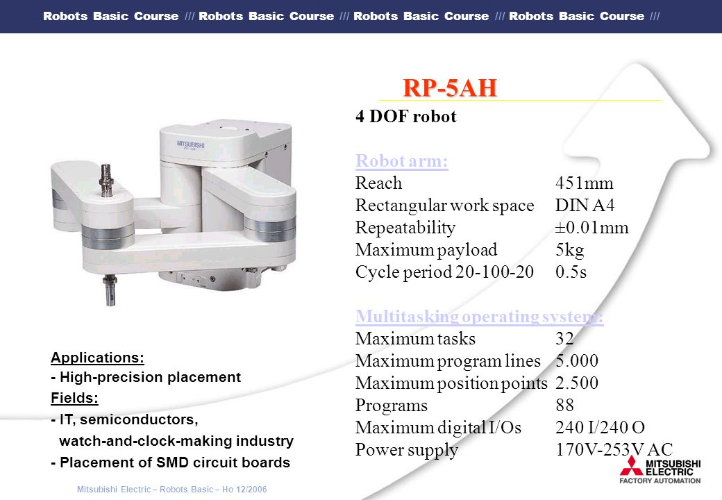RP-5AH 4 DOF robot Robot arm: Reach 451mm