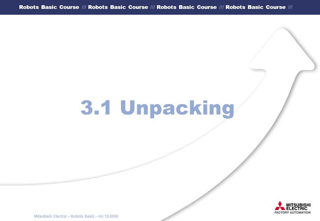 3.1 Unpacking