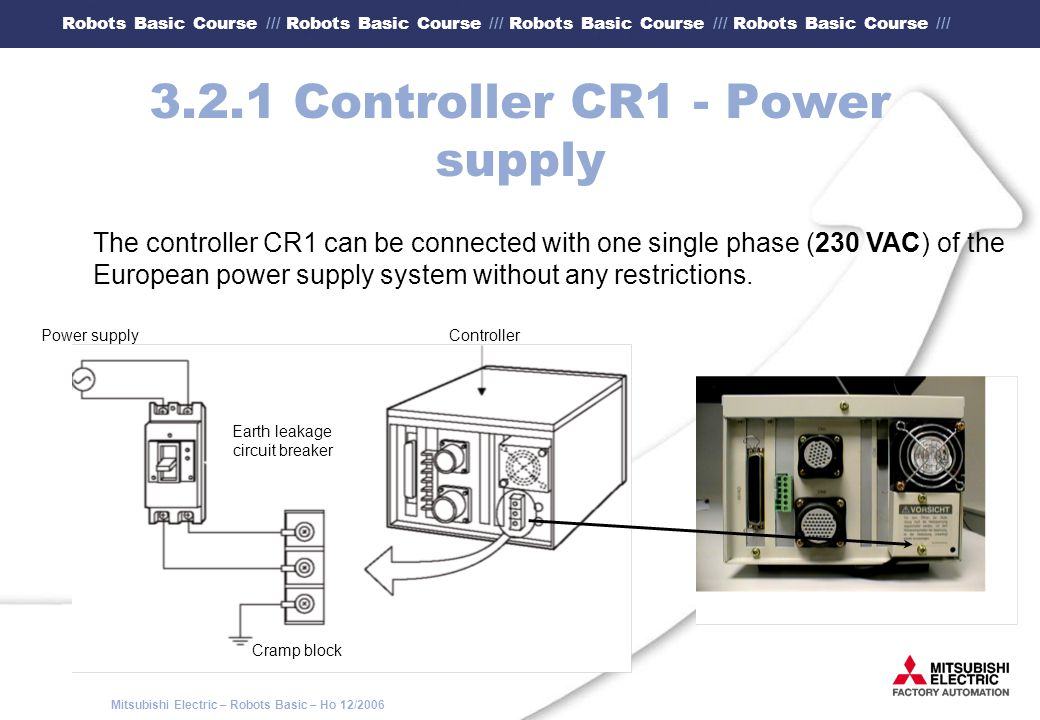 3.2.1 Controller CR1 - Power supply