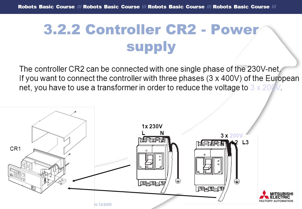 3.2.2 Controller CR2 - Power supply