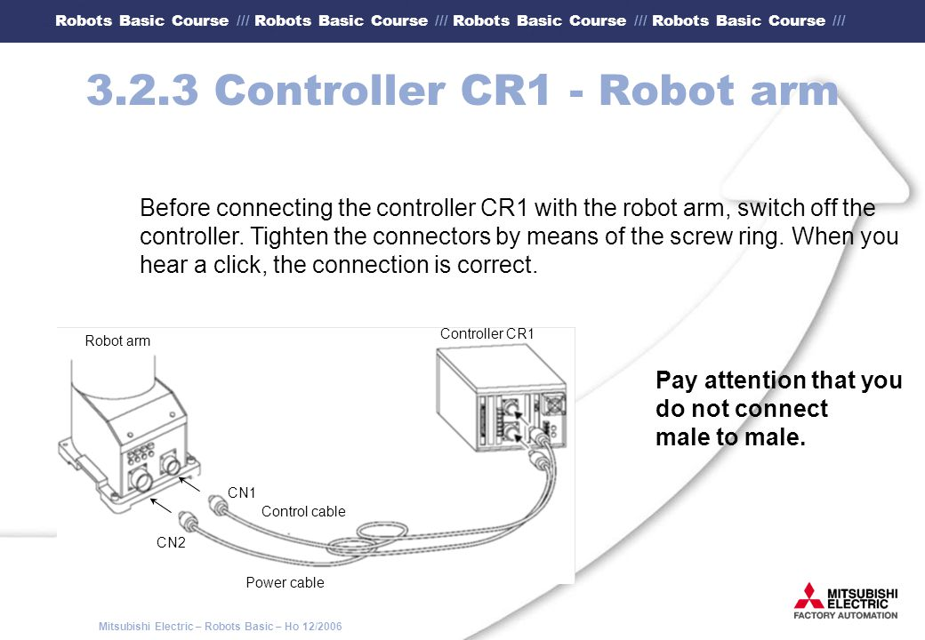3.2.3 Controller CR1 - Robot arm