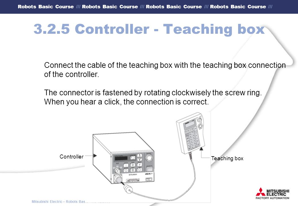 3.2.5 Controller - Teaching box
