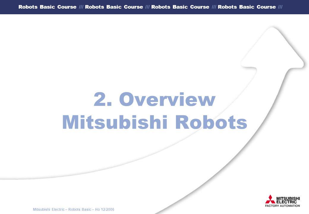 2. Overview Mitsubishi Robots