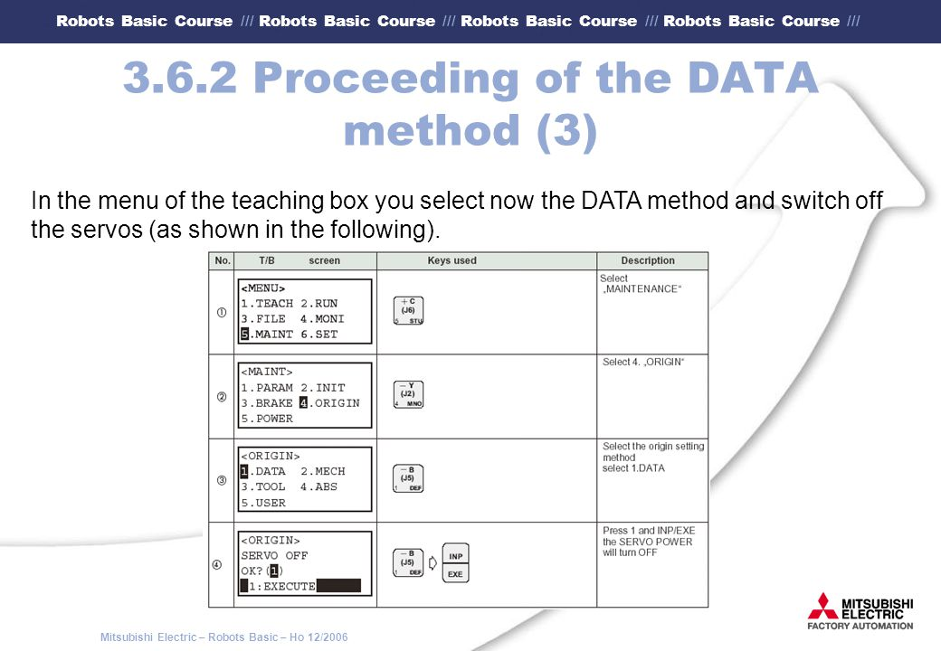 3.6.2 Proceeding of the DATA method (3)