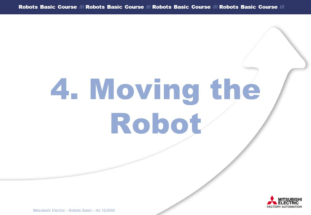 4. Moving the Robot
