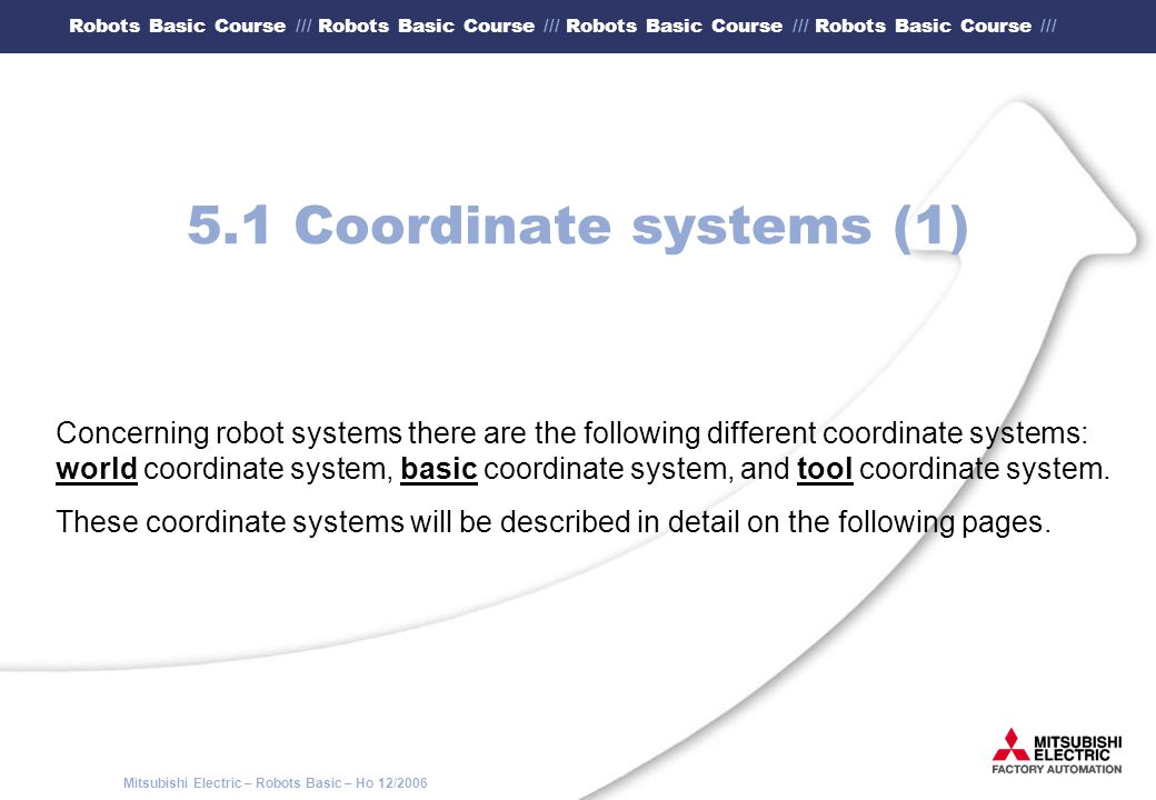 5.1 Coordinate systems (1)