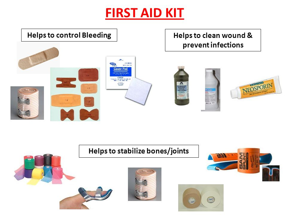 FIRST AID KIT Helps to control Bleeding