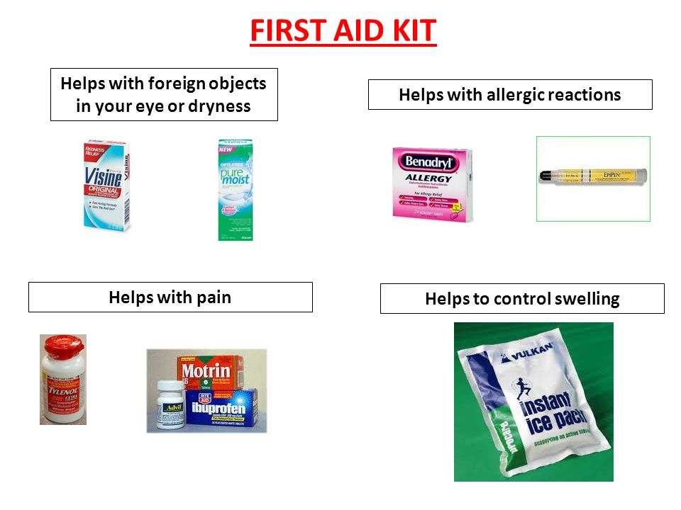 FIRST AID KIT Helps with foreign objects in your eye or dryness