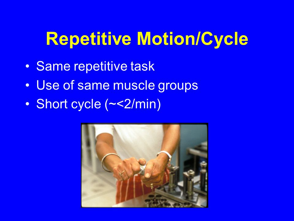 Repetitive Motion/Cycle