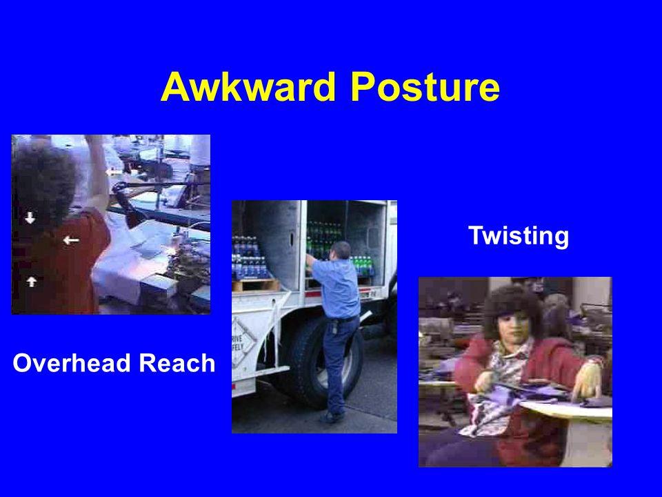 Awkward Posture Twisting Overhead Reach